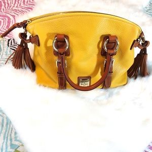 Dooney & Bourke Yellow Pebble Leather Satchel